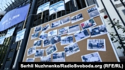 Під час акції на підтримку жертв насильницьких зникнень у Криму під посольством Росії в Києві, архівне фото