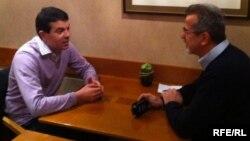 Министерот за надворешни работи Никола Попоски во разговор со новинарот на РСЕ, Љупчо Наќев.