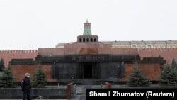 Leninin nəşinin açıq saxlandığı məqbərə, Moskva, 22 aprel 2020