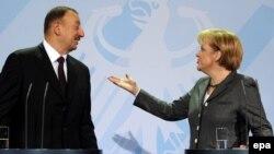 İlham Əliyev və Almaniya kansleri Angela Merkel, 4 fevral 2010