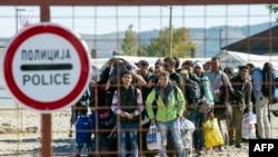 پناهجویان در مرز مقدونیه