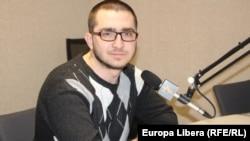 Pavel Cireș în studioul Europei Libere la Chișinău