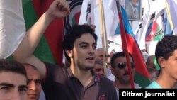 Тюркель Керимли, сын азербайджанского оппозиционного лидера Али Керимли. Баку, 23 сентября 2013 года.