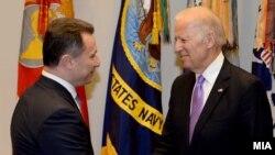 Архивска фотографија - средба на Груевски со потпретседателот на САД, Џо Бајден.
