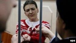 Надежда Савченко в зале суда. Москва, 4 марта 2015 года.
