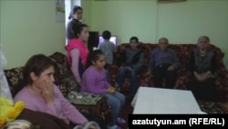 Armenia - Refugees from the Nagorno-Karabakh village of Talish in an aparment in Charentsavan.