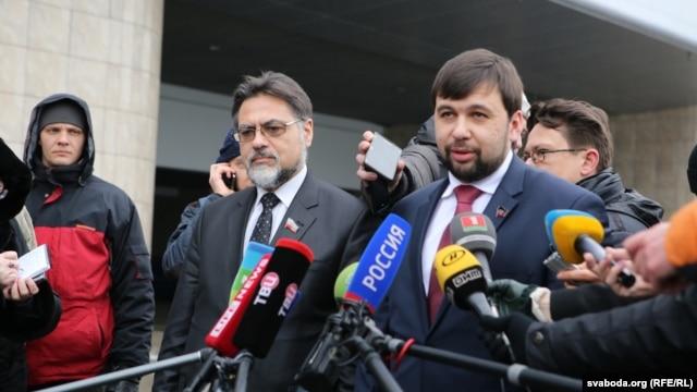 Денис Пушилін і Владислав Дейнего, Мінськ, 30 січня 2015 року