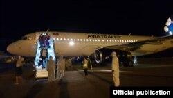 Новосибирск-Бишкек багытындагы чартердик учак. «Манас» аэропорту. 10-июль, 2020-жыл.