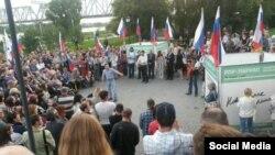 """Народный сход """"За честные выборы"""" в Новосибирске, 11 августа 2015 года"""