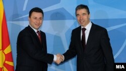 Премиерот Никола Груевски и генералниот секретар на НАТО Андерс Фог Расмусен.