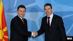 Премиерот Груевски и генералниот секретар на НАТО Расмусен во Брисел