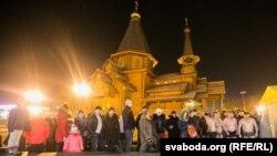 Вадохрышча ля храма Ўсіх Сьвятых у Менску