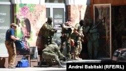 Перестрелка в Донецке, 1 июля 2014 года.