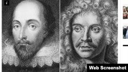 Shakespeare və Molière, İndependent-dən görüntü.