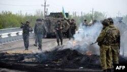 Блок-пост сепаратистів в Андріївці, звільнений уранці 2 травня