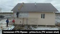 Стройка в поселке Стрелка Красноярского края - эфир телеканала СТС-Прима