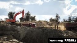Добыча песка в Керчи