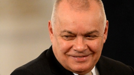 """Love can work miracles,"" says Dmitry Kiselyov. ""Who is against that?"""