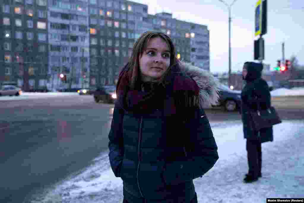 "Christina, an 18-year-old Norwegian studying at Murmansk's Russian-Norwegian school. A stated aim of the school is to ""build a good network for future endeavors across the border…"""