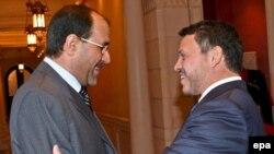 العاهل الأردني يستقبل المالكي بعمّان