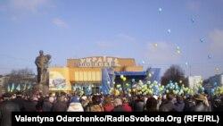 تجمع حامیان دولت مرکزی اوکراین در کییف