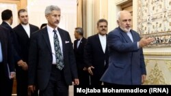 Indian External Affairs Minister Subrahmanyam Jaishankar met with Iranian Foreign Minister Javad Zarif for a meeting of the 19th India-Iran joint commission, including talks on the Chabahar port. Tehran. Iran. Dec 22nd 2019.