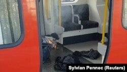 Поїзд метро після пожежі, Лондон, 15 вересня 2017 року