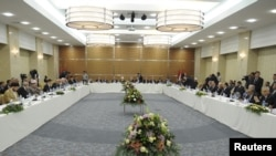 قادة عراقيون في إجتماع أربيل
