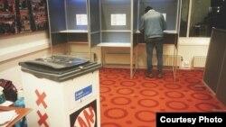 Участок для голосования на референдуме в Нидерландах по вопросу о Соглашении об ассоциации Украины с ЕС