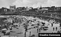 Пляж у Александрыі, 1942. Фота: Tom Beazley