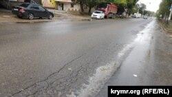 Пена на улицах Керчь после дождя, 8 сентября 2018 года