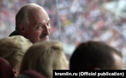 Аляксандар Лукашэнка на фінале чэмпіянату сьвету ў футболе на маскоўскім стадыёне «Лужнікі», ілюстрацыйнае фота