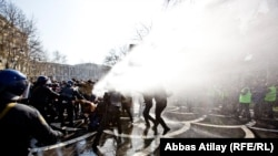 Rights activists have accused Western governments of turning a blind eye to how authoritarian governments, such as the Baku administration, get their crowd-control devices such as water cannons.