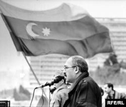 Qarabağa erməni iddialarına qarşı Bakının Azadlıq Meydanında mitinqlər... 80-ci illərin sonu
