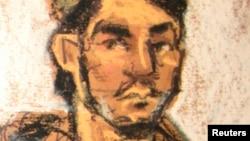 Портрет Абдурасула Джурабоева, сделанный в зале суда.