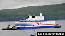 The Akademik Lomonosov began its 5,000-kilometer voyage to the Arctic on August 23.