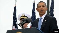 U.S. President Barack Obama spoke at a memorial ceremony at the Pentagon.