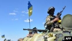 Trupe guvernamentale ucrainene avansînd astăzi în regiunea Donețk