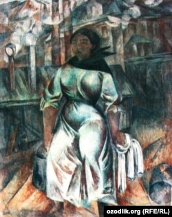 Картина художника Александра Шевченко «Баба с ведрами».