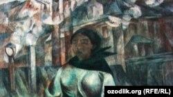 """Rassom Shevchenko tomonidan chizilgan """"Chelak ko'targan ayol"""" kartinasi"""