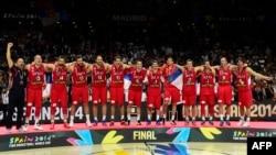 Ekipi serb i basketbollit.