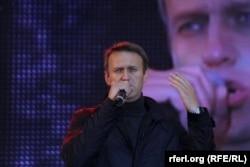 Алексей Навальный на предвыборном митинге в Москве, 6 сентября 2013 года