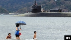 """Найбуйнейшая амэрыканская падводная лодка """"Мічыган"""" на базе Субік-Бэй на Філіпінах"""
