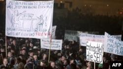 La demonstrația din 1989 de la Leipzig