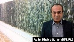 سليمان علي امام اطول لوحاته في المعرض