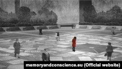 Праект Цзыўя Со, які перамог у конкурсе на стварэньне эўрапейскага мэмарыялу ахвярам таталітарызму ў Брусэлі