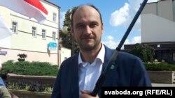Дзьмітры Кучук, лідэр партыі, архіўнае фота.