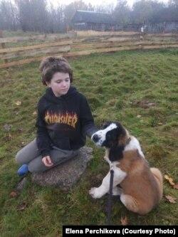 Тася со своей собакой