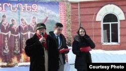 Поздравление гостей праздника Терендез. Усть-Каменогорск, 17 февраля 2013 года.
