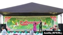 Акъяр авылында Төмән районы Сабантуе